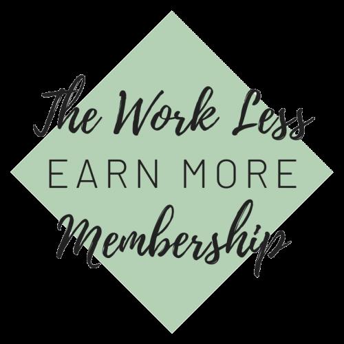 The Work Less Earn More Membership Logo