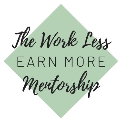 The Work Less Earn More Membership Logo